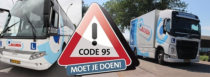 Bizarre drukte voor chauffeurs bij Nascholing Code 95